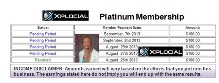 Platinum payments received 1